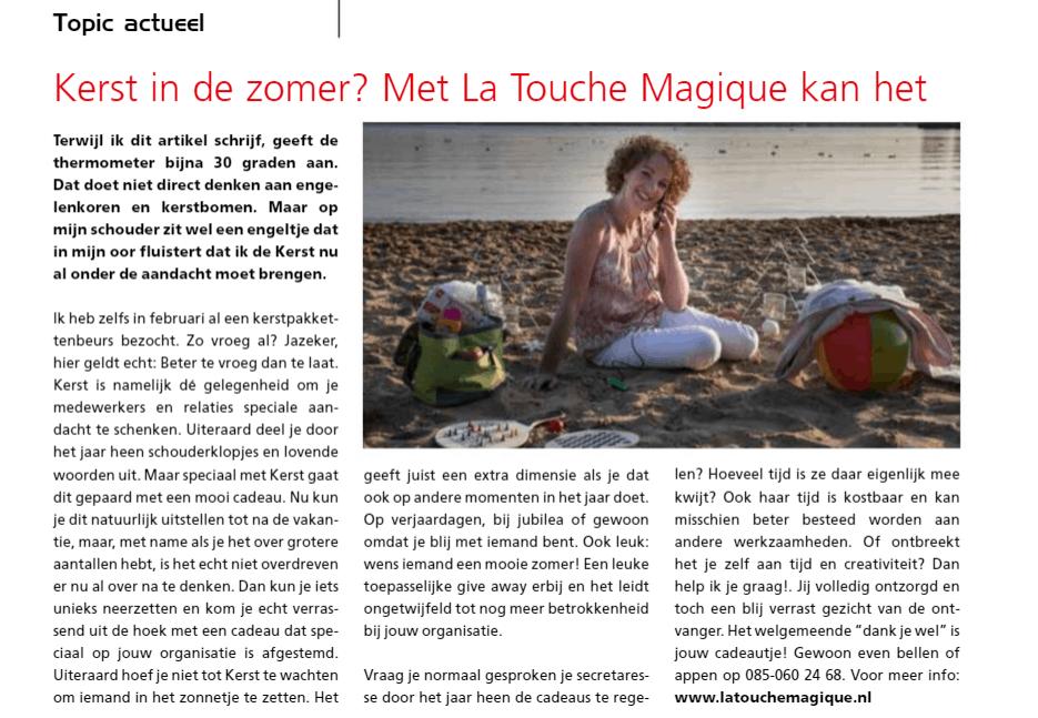 La Touche Magique in Topic zomer 2018