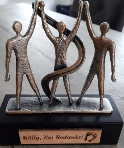 Award beeldje trofee - La Touche Magique